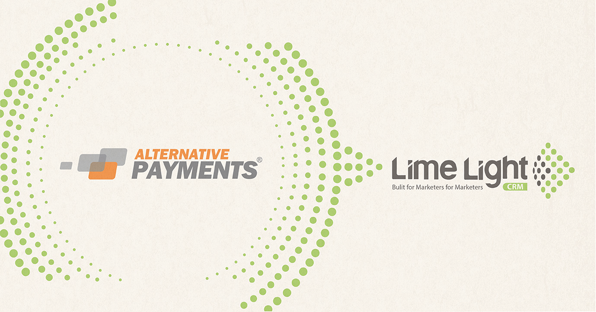 Alternative Payments and Lime Light CRM Partner to Enable Local Payment Methods Processing for Online Marketers